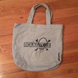 SoulCycle skull tote bag